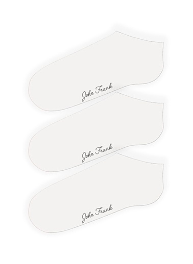 John Frank John Frank Women Üçlü Kısa Çorap Beyaz